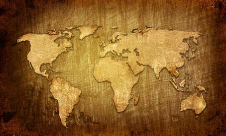 world map vintage artwork photo