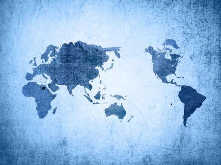 world map vintage artwork Stock Photo - 5407235