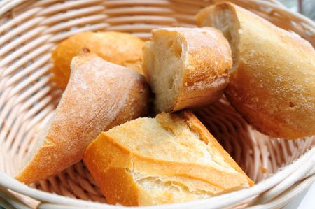 bread in basket Stock Photo - 5458190