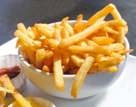 Golden French fries potatoes ready to be eaten Stock Photo - 5818979