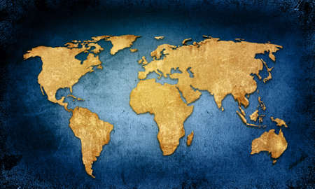 vintage world map: world map textures and backgrounds Stock Photo