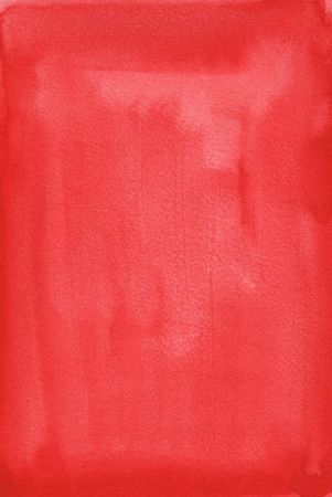 great red watercolor background - watercolor paints on a rough texture paper Stock Photo - 6402904