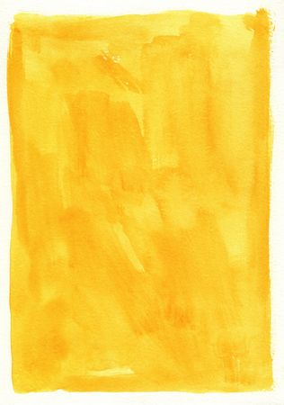 great yellow watercolor background - watercolor paints on a rough texture paper Stock Photo - 6387788