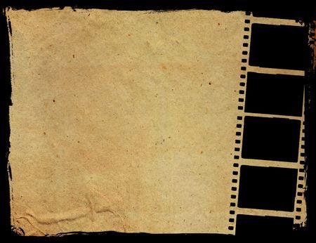 Roll film: fotograma de fondos del efecto de tira de la pel�cula el grunge