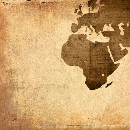 afrique du nord: Illustration de carte-grunge Europe �g�e Banque d'images