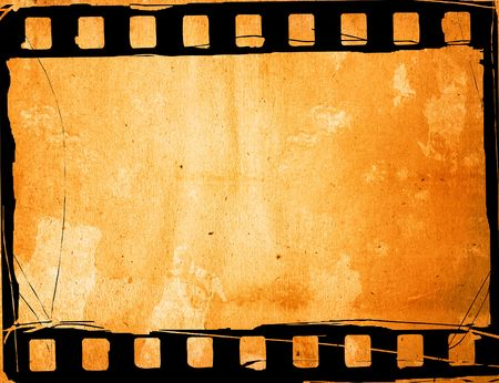 grunge film strip effect backgrounds frame Stock Photo - 6607471