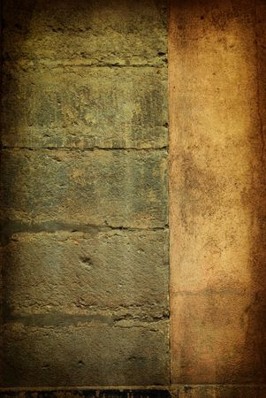 Brown grungy wall - Great textures for your design Stock Photo - 6768943