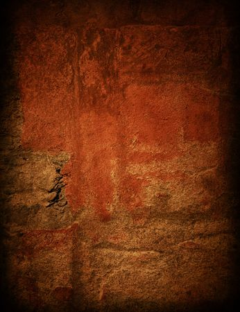 Brown grungy wall - Great textures for your design  Stock Photo - 6768954
