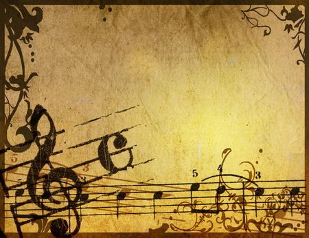 old sheet music: Abstract grunge melody textures and backgrounds - perfect background with space for text or image