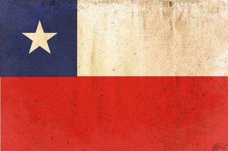 bandera de chile: Bandera de chile - el viejo y el estilo de papel desgastado  Foto de archivo