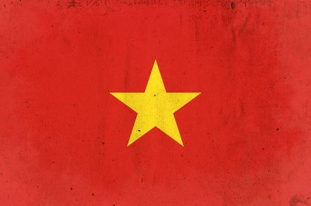 flag of vietnam - old and worn paper style photo