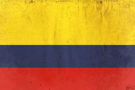 flag of colombia - old and worn paper style photo