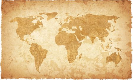 world map vintage artwork - perfect background with space for text or image Stock Photo