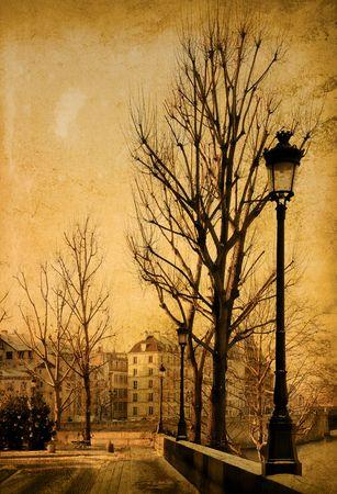 paris vintage: hermosas calles parisinas - con espacio para texto o imagen