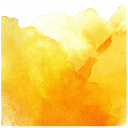 watercolor paper texture: great yellow watercolor background - watercolor paints on a rough texture paper
