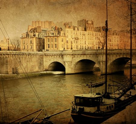 paris vintage: beautiful Parisian streets - with space for text or image