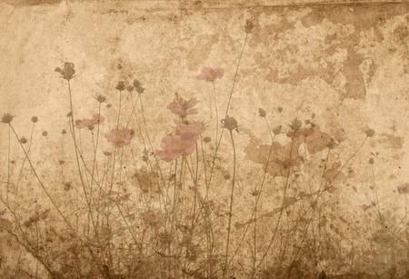 antigua flor texturas de papel - Fondo perfecto con espacio para texto o imagen