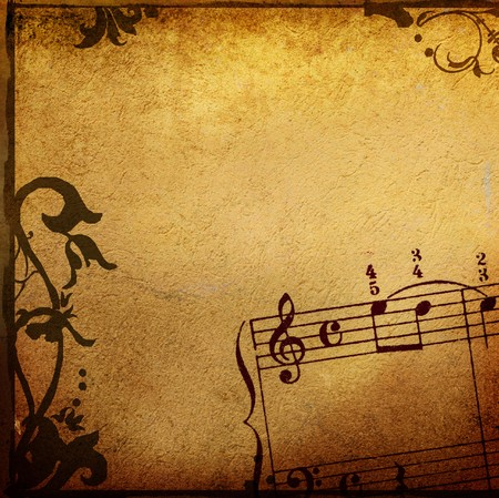 Abstract grunge melody textures and backgrounds - perfect background with space for text or image Stock Photo - 6942617
