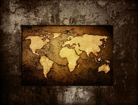 world map vintage artwork - perfect background with space for text or image Stock Photo - 6942832