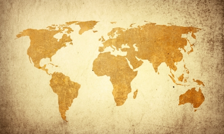 world map vintage artwork - perfect background with space for text or image Stock Photo - 7025391