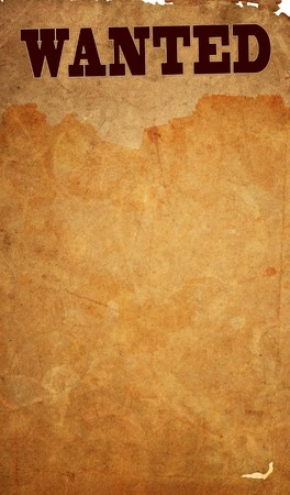 abrasion: Wanted - old wanted paper textures with space for text or image  Stock Photo