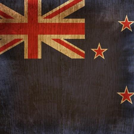 wood flag of new zealand photo