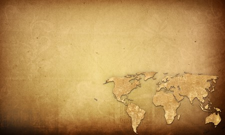 world map vintage artwork - perfect background with space for text or image photo