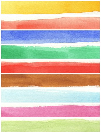 great watercolor background - watercolor paints on a rough texture paper Stock Photo - 7684512