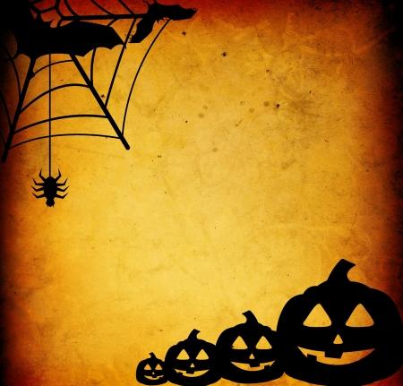 calabazas de halloween: Calabazas de Halloween con amigos de calabaza  Foto de archivo