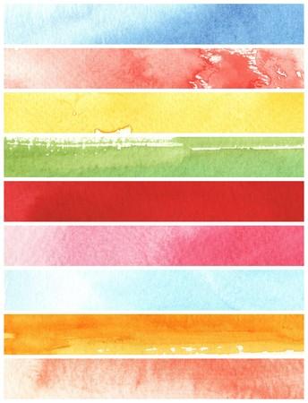 scan paper: watercolor paints on a rough texture paper