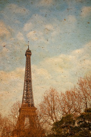 The Eiffel Tower in nightfall - paris Fran photo