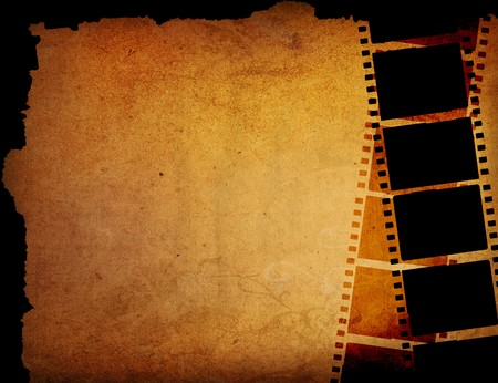 Great film strip for textures and backgrounds with space  Stock Photo - 7975519