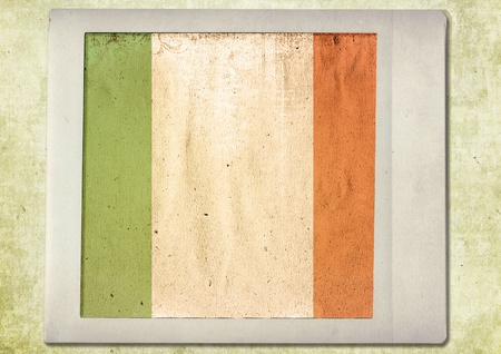 flag of vintage instant photo,ireland photo