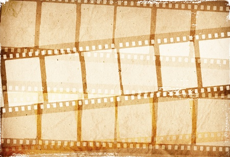 film camera: brown film strip for textures and backgrounds frame  for your data