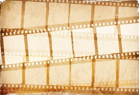 rollo fotogr�fico: tira de pel�cula marr�n para marco de texturas y fondos para sus datos Foto de archivo