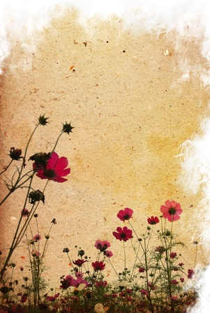 old shabby paper textures - perfect background with space for text or image Foto de archivo