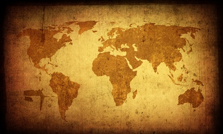 continental united states: world map vintage artwork - perfect background with space for text or image Stock Photo