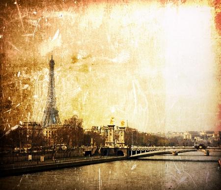 historic site: beautiful Parisian streets - The Eiffel Tower