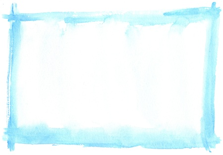 scan paper: texture watercolor frame painting - with space for your design Stock Photo
