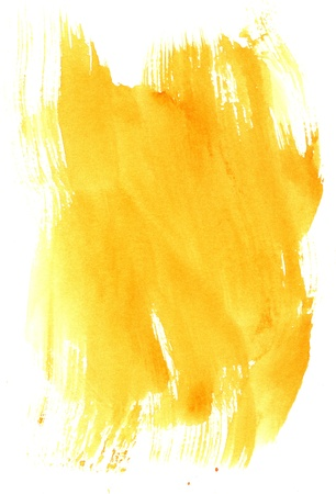 yellow texture watercolor background painting - with space for your design photo