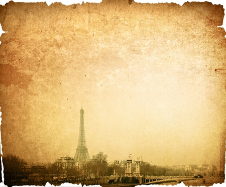 The Eiffel Tower (nickname La dame de fer, the iron lady),The tower has become the most prominent symbol of both Paris and France Stock Photo - 9495271
