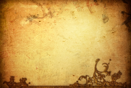 old parchment: Creative background - Grunge wallpaper with space