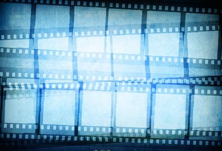 cinema old: Striscia di pellicola grande per texture e sfondi frame con spazio per il testo e immagine