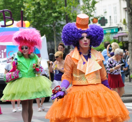 sexual orientation: PARIS - JUNE 25: Gay Pride Parade to support gay rights,on June 25, 2011 in Paris, France.
