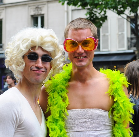 PARIS - JUNE 25: Gay Pride Parade to support gay rights,on June 25, 2011 in Paris, France.  Stock Photo - 9777557