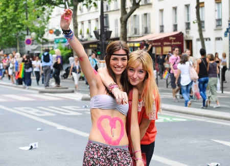 PARIS - JUNE 25: Gay Pride Parade to support gay rights,on June 25, 2011 in Paris, France.  Stock Photo - 9777560