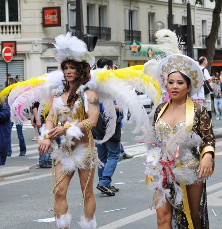 june 25: PARIS - JUNE 25: Gay Pride Parade to support gay rights,on June 25, 2011 in Paris, France.