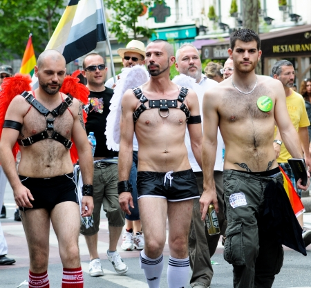 PARIS - JUNE 25: Gay Pride Parade to support gay rights,on June 25, 2011 in Paris, France.  Stock Photo - 9777555