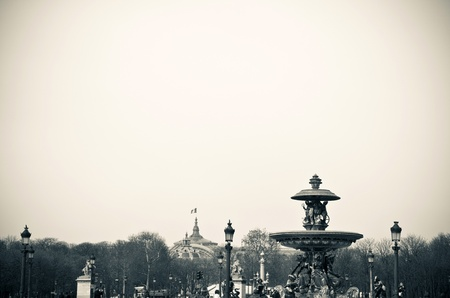 Place de la Concorde-The Place de la Concorde is one of the major public squares in Paris,France.at the eastern end of the Champs-elysees. Stock Photo - 10174547