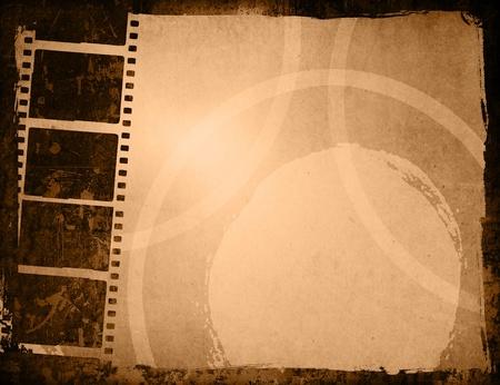 Roll film: Tira de la pel�cula gran marco de texturas y fondos  Foto de archivo